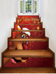 Christmas Elk Pattern Removable Stair Stickers -
