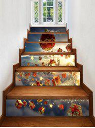 Christmas Gifts Stars Pattern Removable Stair Stickers -