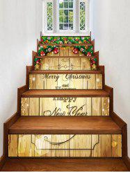 Christmas Blessing Pattern Removable Stair Stickers -