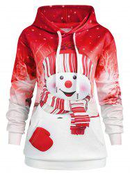 Christmas Snowman Plus Size Hoodie -