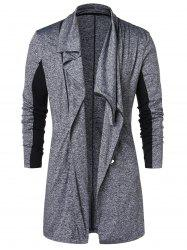Zip Up Space Dye Longline Coat -