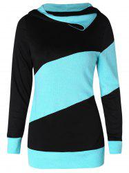 Sweat-Shirt Jointif en Blocs de Couleurs - Noir 2XL