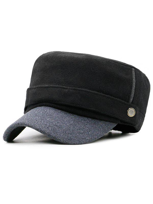 Affordable Button Decorative Flat Top Hat