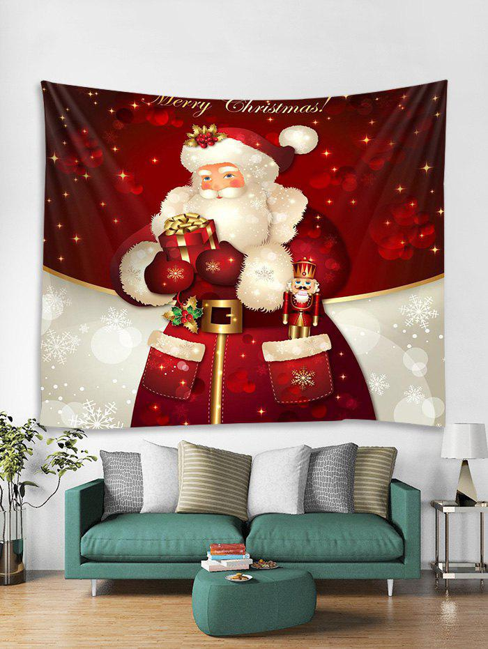 Christmas Santa Claus Gift Print Tapestry Wall Hanging Decor, Multi
