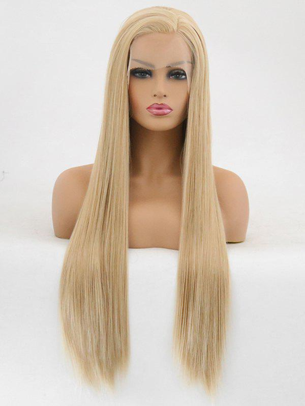Hot Free Part Straight Long Party Synthetic Lace Front Wig