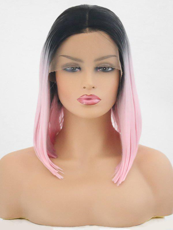 Shops Center Parting Medium Colormix Straight Synthetic Lace Front Wig