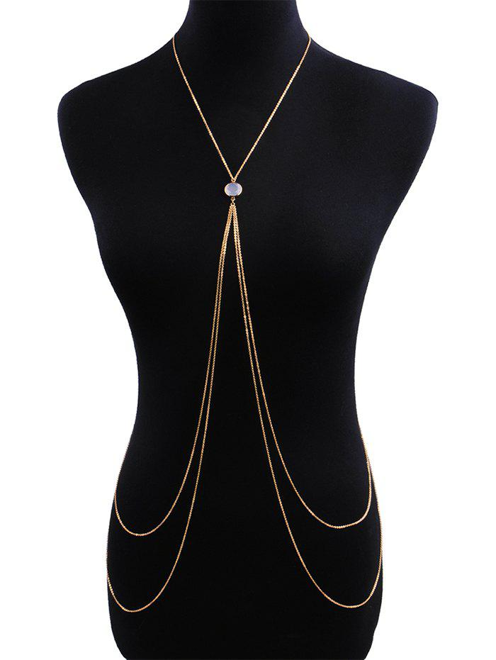 Affordable Rhinestone Double Layered Body Long Chain