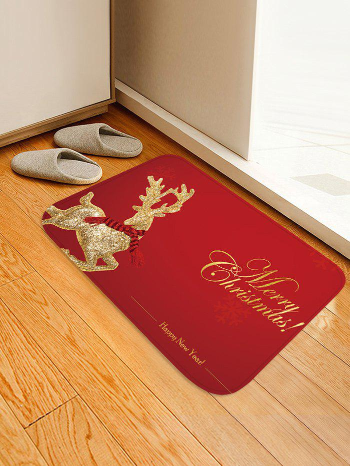 Discount Christmas Elk Pattern Anti-skid Water Absorption Area Rug