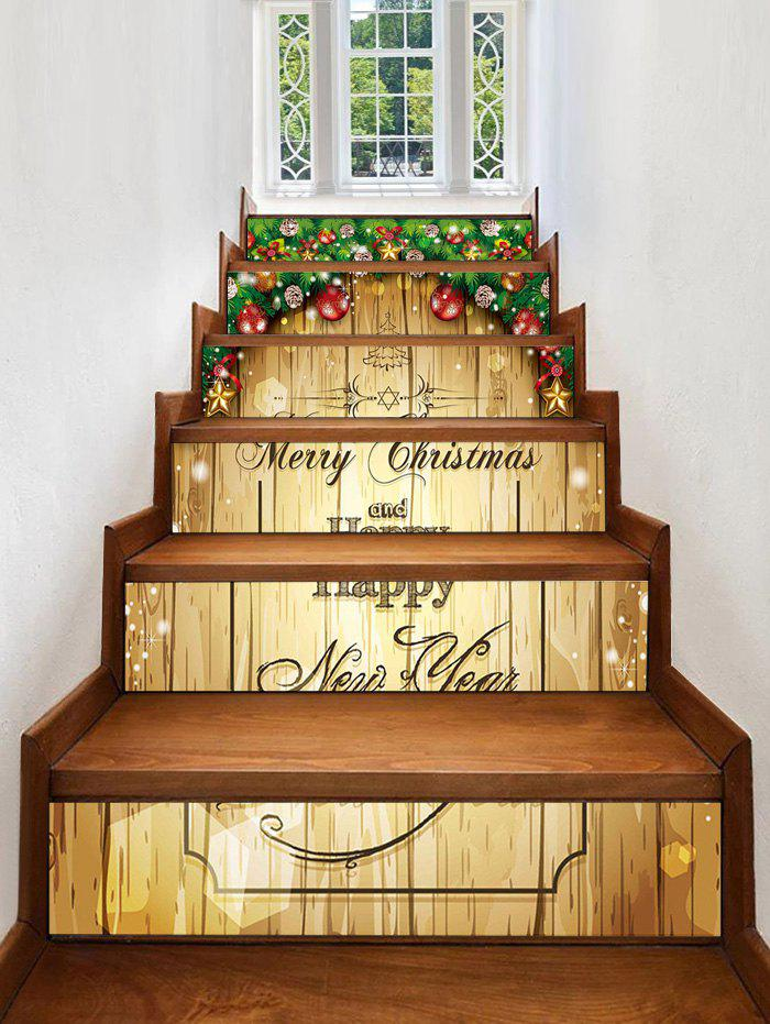 Outfit Christmas Blessing Pattern Removable Stair Stickers