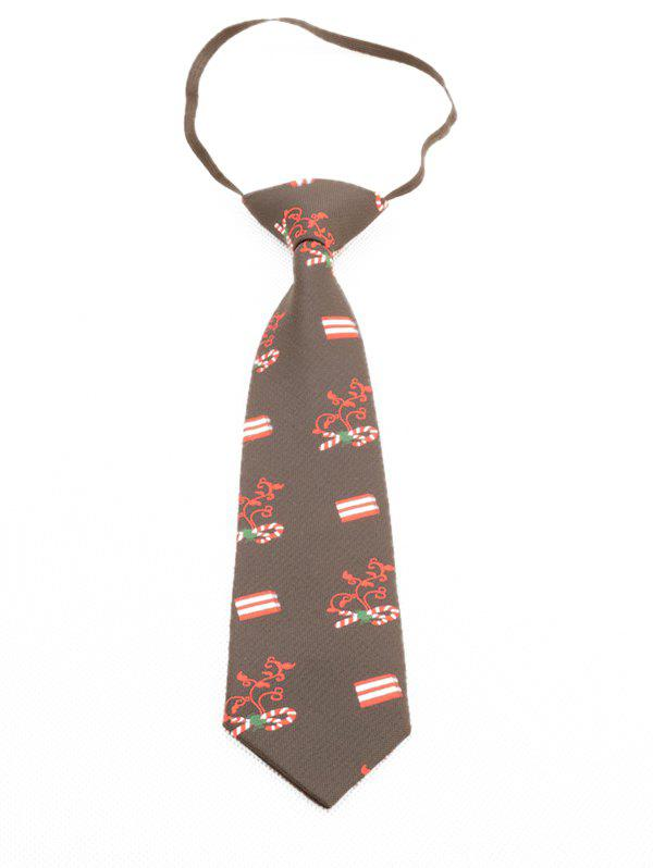 Outfit Christmas Cane Print Kids Tie