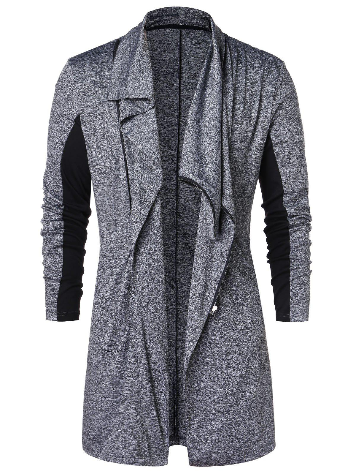 Fancy Zip Up Space Dye Longline Coat