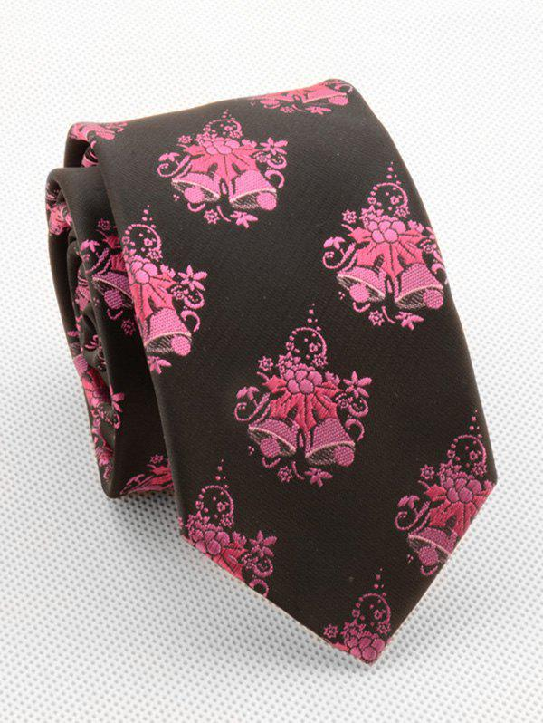 Chic Christmas Bell Print Silky Tie