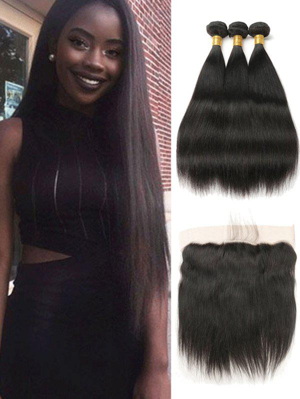 2019 3pcs Peruvian Remy Straight Hair Weaves With Closure  e50830ab7