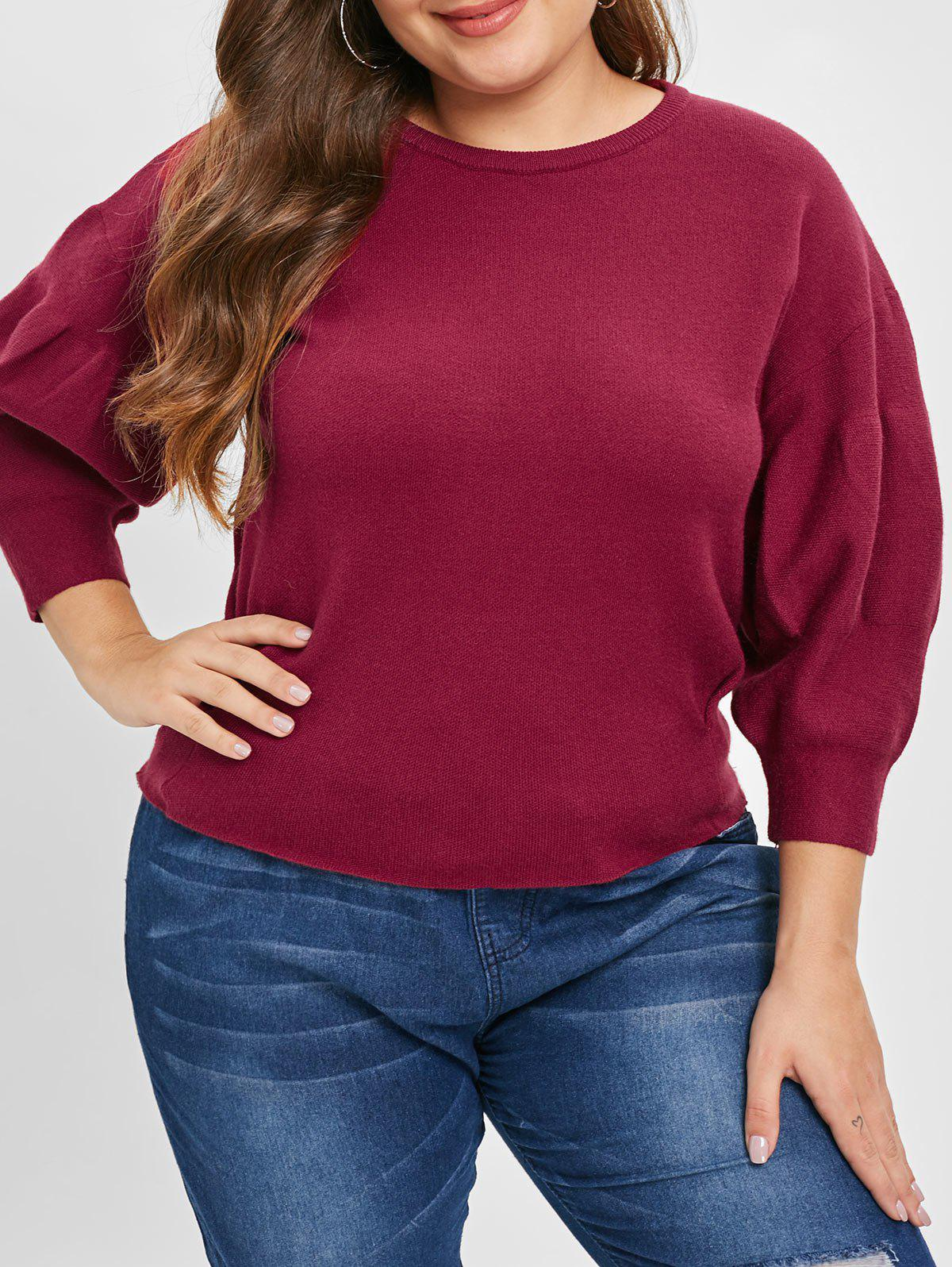 Affordable Plus Size Puff Sleeve Sweater