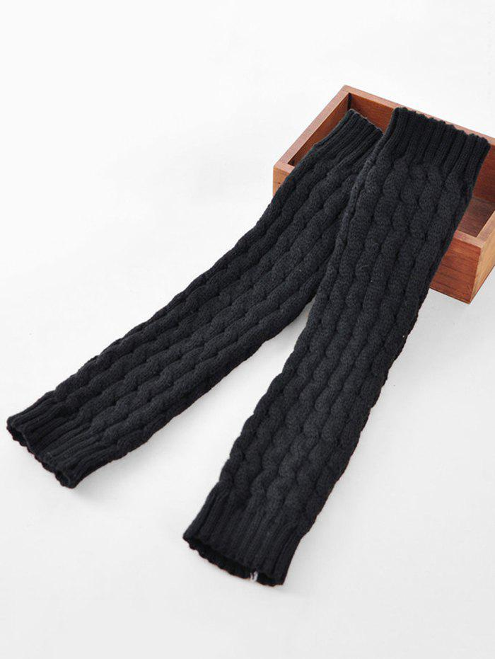 Sale Winter Solid Color Knitted Leg Warmers