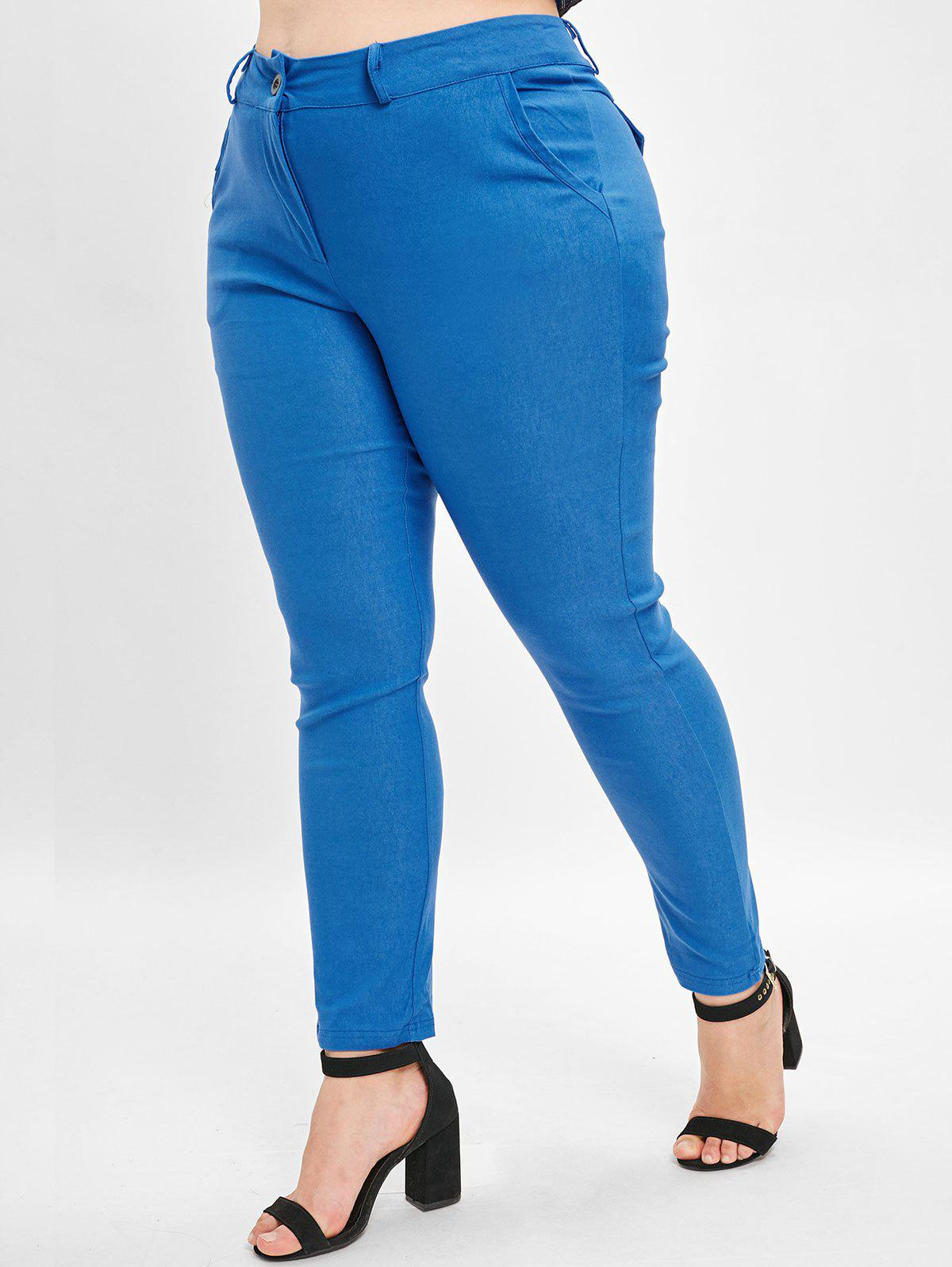 Online Plus Size High Waist Straight Pants