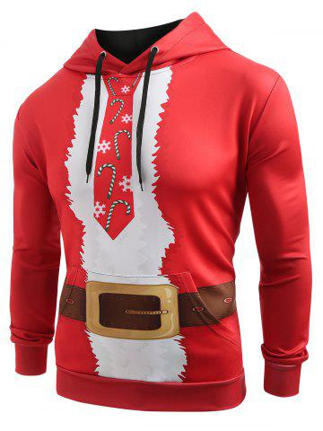 Christmas Belt Candy Pattern Casual Hoodie