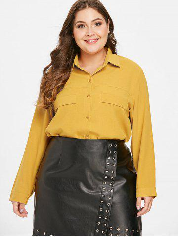 Front Pockets Plus Size Shirt