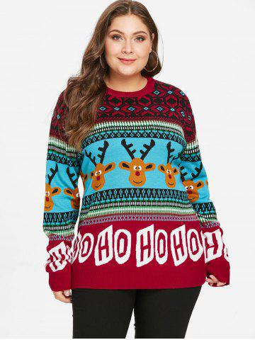 43d7f2c1d51df9 Plus Size Christmas Sweater - Free Shipping