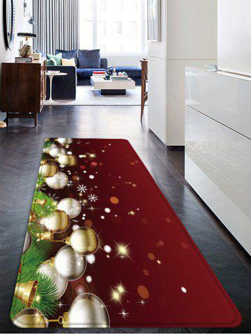 Christmas Balls Pattern Water Absorption Anti-skid Floor Rug - MULTI - W24 X L71 INCH