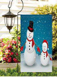 Christmas Snowmen Print Waterproof Garden Flag -