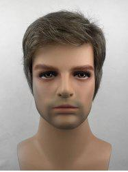 Short Side Bang Straight Synthetic Wig for Men -