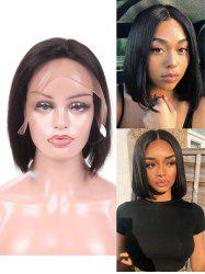 Free Part Straight Peruvian Human Hair Full Lace Wig -