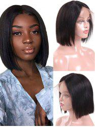 Indian Virgin Human Hair Straight Full Lace Wig -