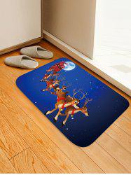 Christmas Elk Sleigh Pattern Anti-skid Water Absorption Area Rug -
