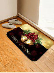 Christmas Bells Pattern Anti-skid Water Absorption Area Rug -
