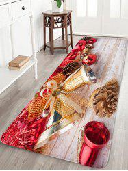Christmas Bell Printed Flannel Floor Mat -