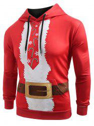 Christmas Belt Candy Pattern Casual Hoodie -