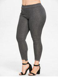 Elastic Waist Plus Size Leggings -