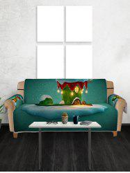 Christmas Boot House Print Couch Cover -