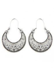 Hollow Out Moon Design Clip Earrings -