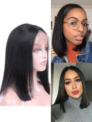 Real Human Hair Straight Indian Virgin Lace Front Wig -