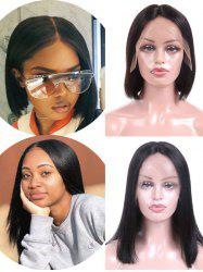 Free Part Straight Malaysian Virgin Human Hair Lace Front Wig -