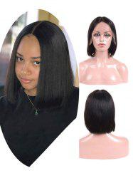 Brazilian Virgin Free Part Straight Human Hair Lace Front Wig -