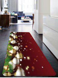 Christmas Balls Pattern Water Absorption Anti-skid Floor Rug -
