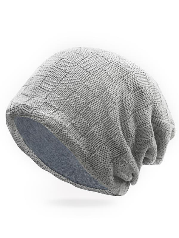 Best Winter Plaid Crochet Slouchy Beanie