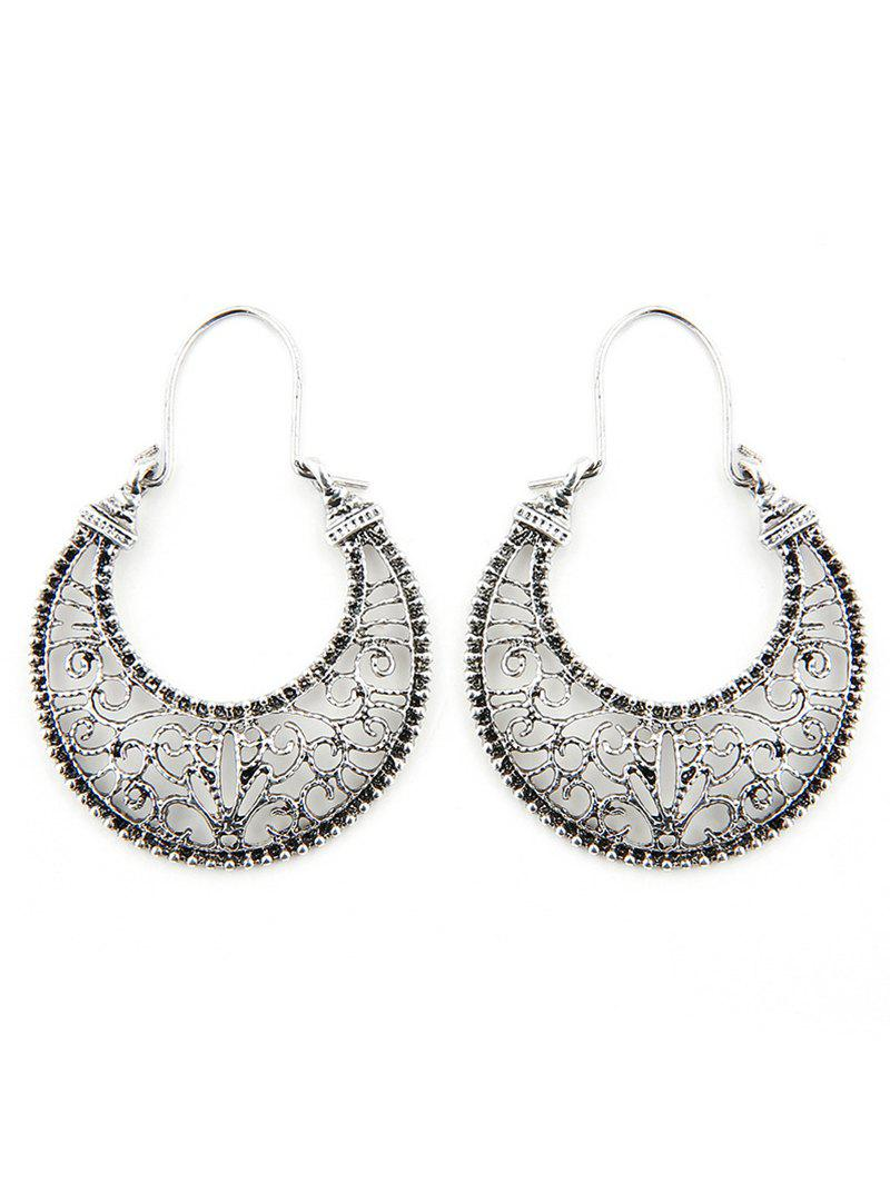 Shops Hollow Out Moon Design Clip Earrings
