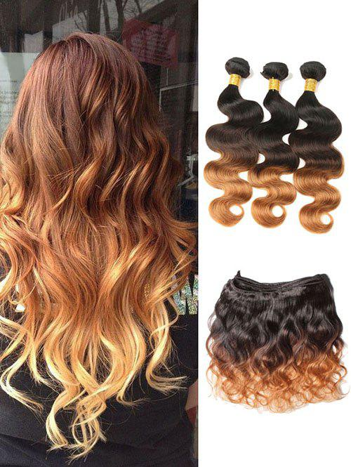 Cheap Real Human Hair Ombre Body Wave Malaysian Hair Weaves