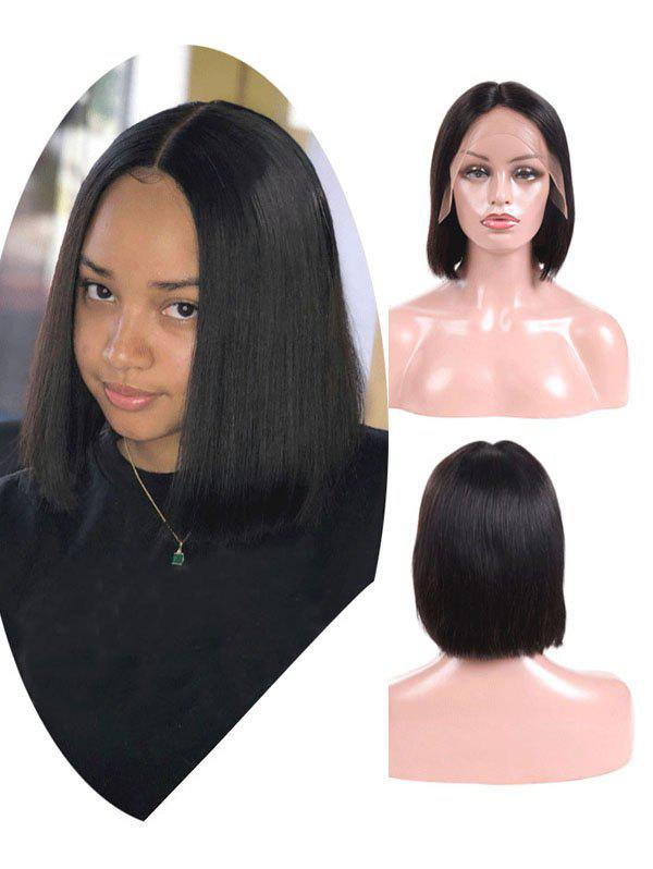 Discount Brazilian Virgin Free Part Straight Human Hair Lace Front Wig