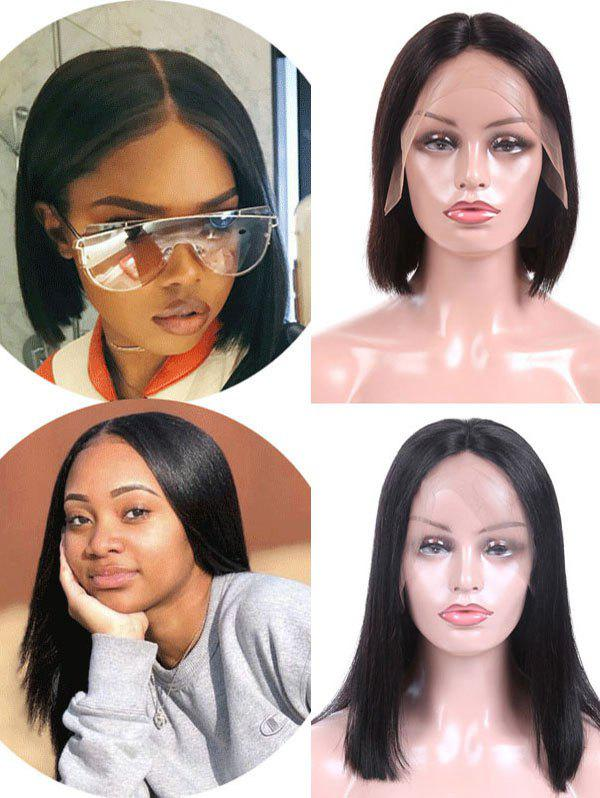 Buy Free Part Straight Malaysian Virgin Human Hair Lace Front Wig