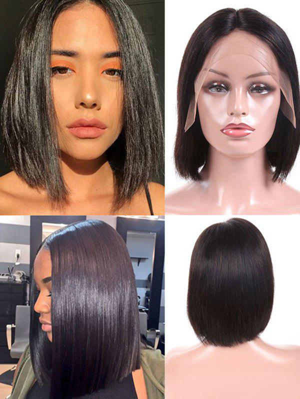 Trendy Peruvian Virgin Straight Real Human Hair Lace Front Wig