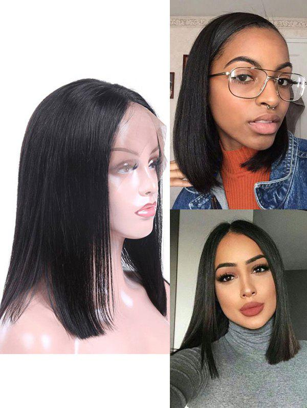 Discount Real Human Hair Straight Indian Virgin Lace Front Wig