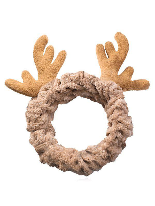 Affordable Christmas Antler Pattern Fluffy Hair Band