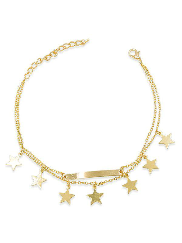Affordable Double Layered Five-Pointed Star Anklet