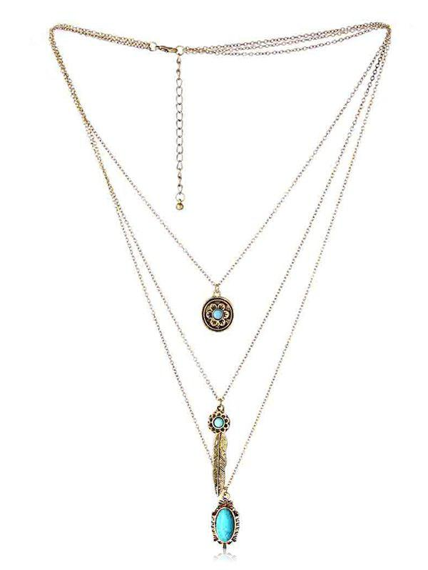 Shop Multilayered Bohemian Faux Turquoise Necklace