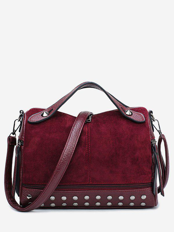 Outfit Scrub Leather Rivet  Design Tote Bag